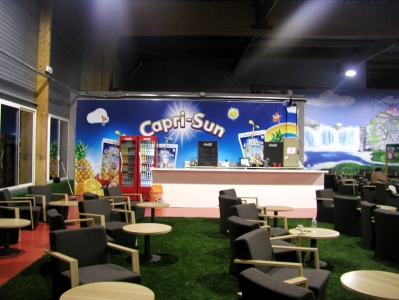 Capri-Sun arrière comptoir  - Toile Tendue 7x2,50m - DPT 33