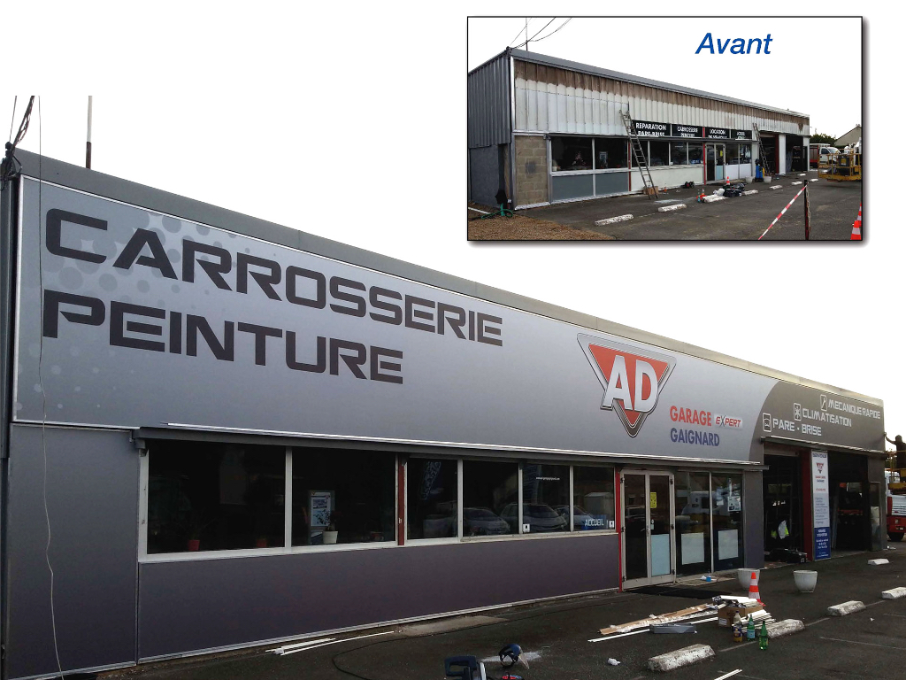 R alisations sign concept for Garage ad lorient