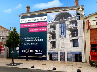 Kaufman - Habillage de façade sur structure déporté 12x9m - DPT 33